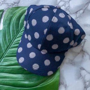 51fabb08ebbe2 BCBGeneration Accessories - NWOT BCBG Blue Polka Dot Baseball Hat
